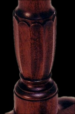 Image of handcarved table column